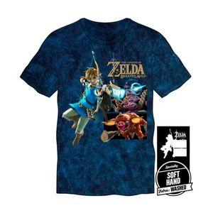 CAMISETA-LINK-WITH-MONSTERS-TEE-AZUL-TALLA-S_1