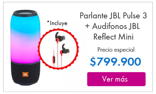 Parlante-JBL-Pulse-3-Bluetooth- -Audifonos-JBL-Reflect-Mini