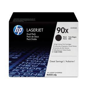 Pack-de-2-cartuchos-de-toner-HP-90X-Negro-Alto-rendimiento-Laserjet-Original--CE390XD--