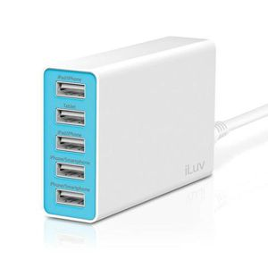 Cargador-de-pared-compacto-iLuv-con-5-puertos-USB