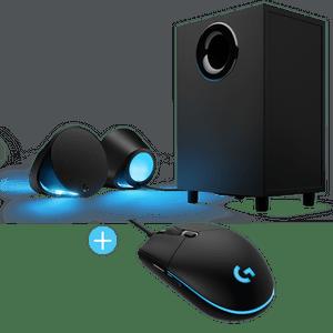 Parlantes-Gamer-Logitech-G560-RGB-Mouse-Logitech-G203