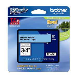 Cinta-Brother-Tze-541-Laminada-Azul-Negro-Brother-18mm-x-8mts